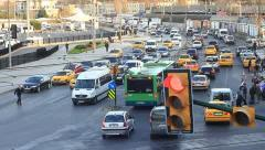 Traffic and horn noise in Istanbul Stock Footage
