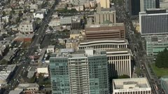 Aerial View of Los Angeles Freeway Suburbs California Stock Footage