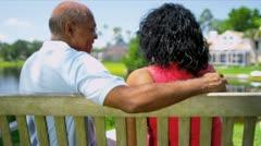 Senior Couple Enjoying Retirement Living Stock Footage