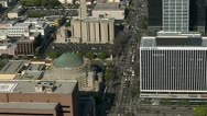 Aerial View of Downtown Los Angeles California Stock Footage
