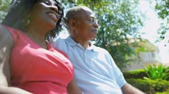 African American Couple Happy Retirement Community Living Stock Footage
