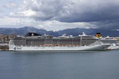 Crise ship MSC Palma Mallorca Stock Photos