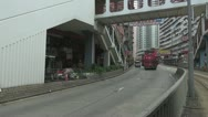 Tram tour in downtown, Hong Kong, China Stock Footage
