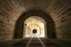 Palma Mallorca arched tunnel enhanced 1487.jpg - stock photo