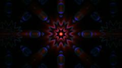 Kaleidoscope retro vintage loop. Stock Footage