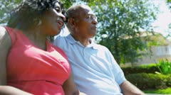 Senior Couple Enjoying Retirement Living Stock Footage