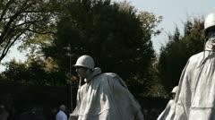 Korean War Memorial in Washington DC, USA Stock Footage