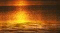 Shifting Red Ripple Lake Light in Evening Water Stock Footage