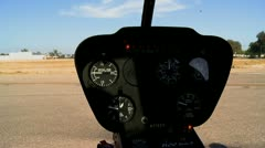 Interior of Helicopter Stock Footage