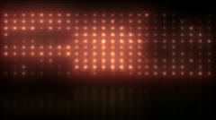 Red Light Wall Floor Slow Rays NTSC - stock footage