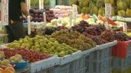 Fruits for sale, street market, Hong Kong, China Stock Footage