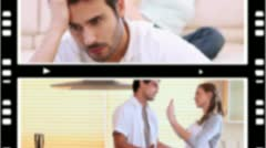 Couples having arguments Stock Footage