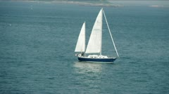 Blue Sailboat Stock Footage