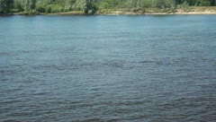 Water transport on the river - stock footage