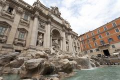 Rome Trevi Fountain beautiful tourism 0534.jpg Stock Photos