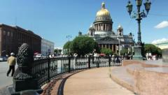 St. Isaac Cathedral, Saint-Petersburg, Russia Stock Footage