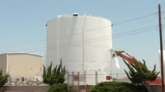 Demolition Processor Rips Open Fuel Storage Tank Stock Footage