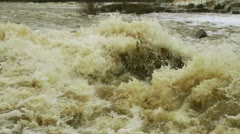Waterfall in a river 16 - stock footage