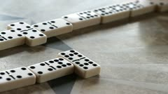 elderly domino players playing a match - stock footage