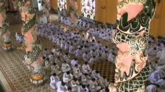 Cao Dai Temple in Vietnam Stock Footage