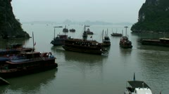 Halong Bay Vietnam Stock Footage