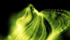 wavy abstract green linear background loop - stock footage