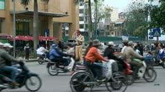 Traffic Cop Vietnam Stock Footage