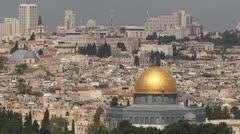 Golden dome in Jerusalem Stock Footage