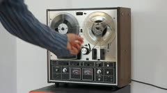 Old Audio Player and Recorder - stock footage