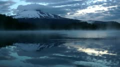 Trillium Lake reflections Stock Footage