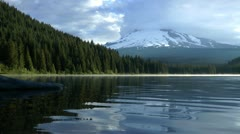 Trillium Lake ripples Stock Footage