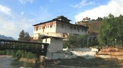 Paro rinpung dzong, bhutan Stock Footage