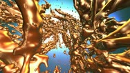 Liquid gold VIDEO Stock Footage