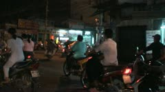 Busy Street Traffic in Vietnam Asia Stock Footage