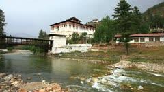 Rinpung dzong in paro, bhutan Stock Footage