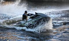 Seadoo and waves Stock Photos