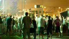 Music festival crowd dance Stock Footage