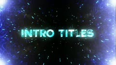Space Titles Stock After Effects
