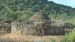 Southern AfricaTribal Hut Stock Footage