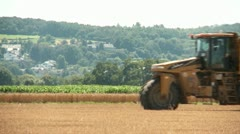 Tractor With Dung on field Stock Footage