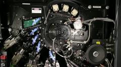 Inner mechanics of digital printing machine Stock Footage