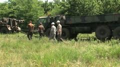 Oshkosk FHTV heavy vehicles Stock Footage
