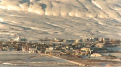 Small village in the wintertime Stock Footage