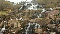 Tvindefossen waterfall Stock Footage