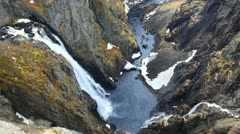 Voringsfossen waterfall, Norway Stock Footage