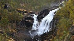 Nyastolsfossen waterfall - stock footage