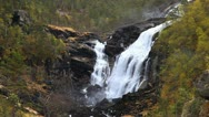 Stock Video Footage of Nyastolsfossen waterfall