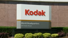 KODAK sign, Eastman Kodak Corporate Headquarters, Rochester, NY - stock footage