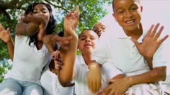 African American Family Advertising Tourism - stock footage