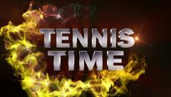 Tennis time text red Stock Footage